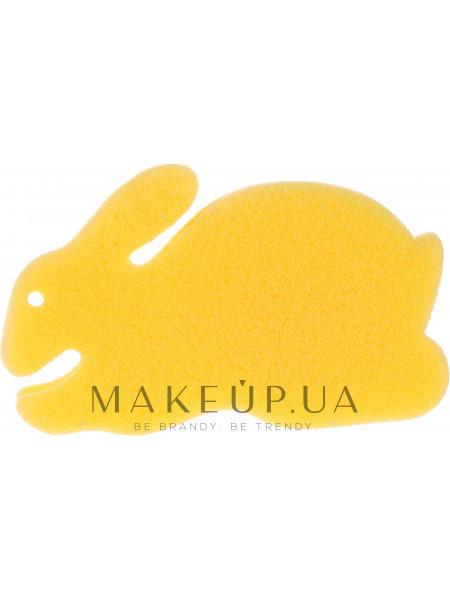 Детская губка для купания «зайчик», желтая