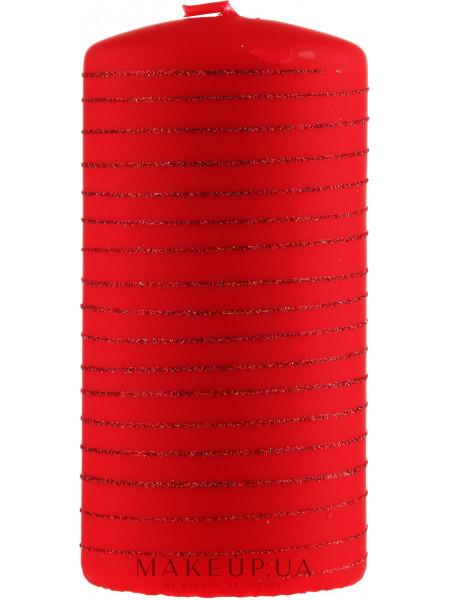 Декоративная свеча, красная, 7х10см