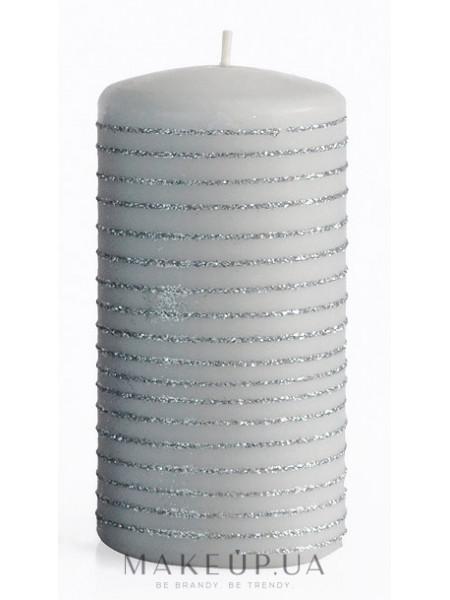 Декоративная свеча, серая, 7x10 см