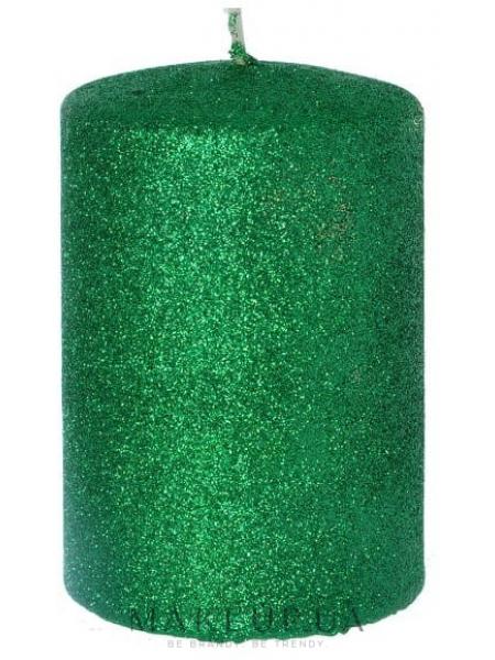 Декоративная свеча, зеленая, 7x10 см