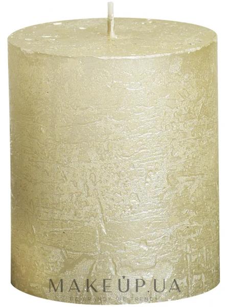 Свеча цилиндрическая metallic ivory, 8068 мм