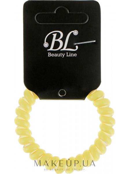 Резинка для волос, 405003, желтая на белой основе