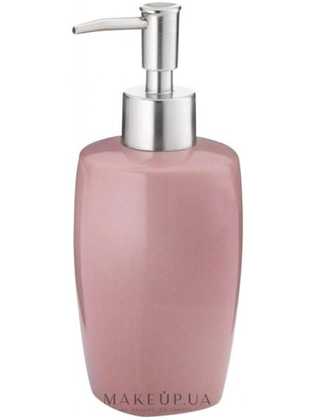 Дозатор для мыла керамический, розовый 400 мл