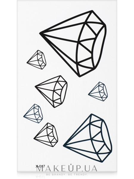 Стикер-Тату, 6х11.5 см, x-017