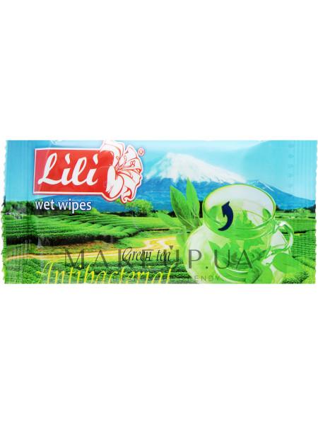 Влажные салфетки с ароматом зеленого чая