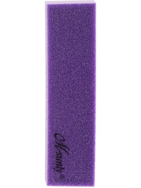 Четырехсторонний полировочный блок для ногтей, фиолетовый