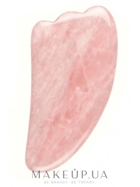 Скребок гуаша из розового кварца