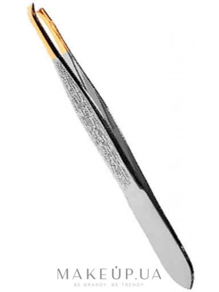 Пинцет косметический профессиональный прямой p-04, золото