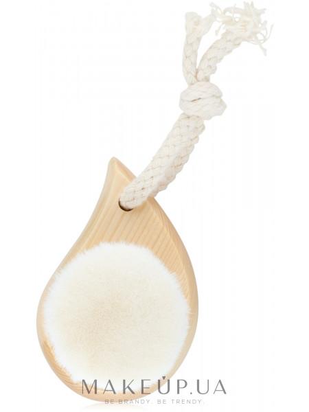 Кисть для очистки и массажа лица на деревянной ручке