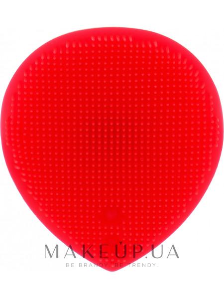 Массажер для умывания и очищения кожи лица, красный