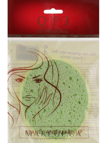 Спонж для умывания, qs-525, зеленый