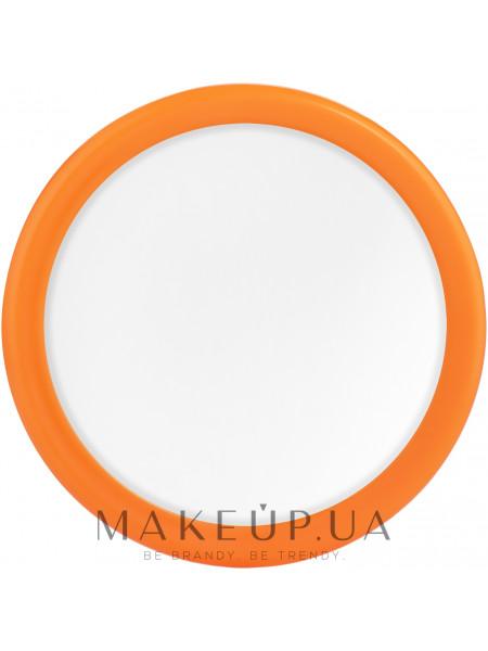 Карманное зеркальце 7.5см, оранжевое