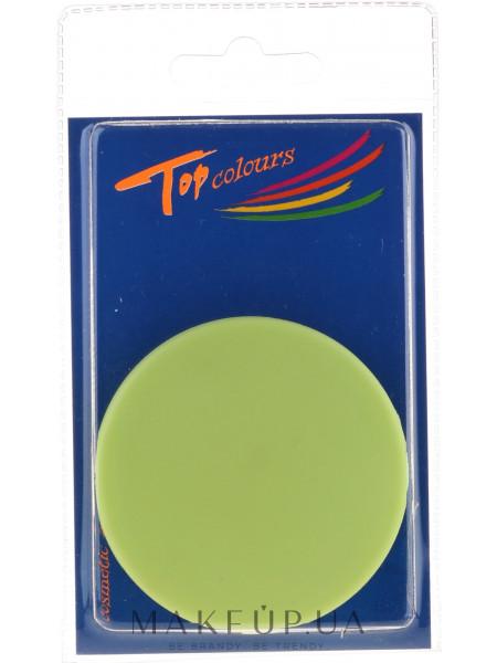 Зеркальце компактное круглое 85543, неоновое зеленое