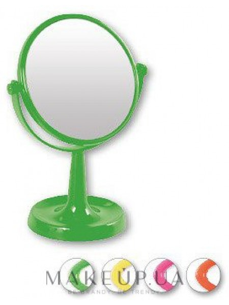 Зеркало на подставке 85734, круглое, 15,5 см, салатовое