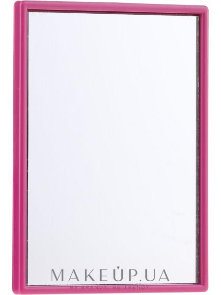 Компактное прямоугольное зеркальце, в фиолетовой оправе