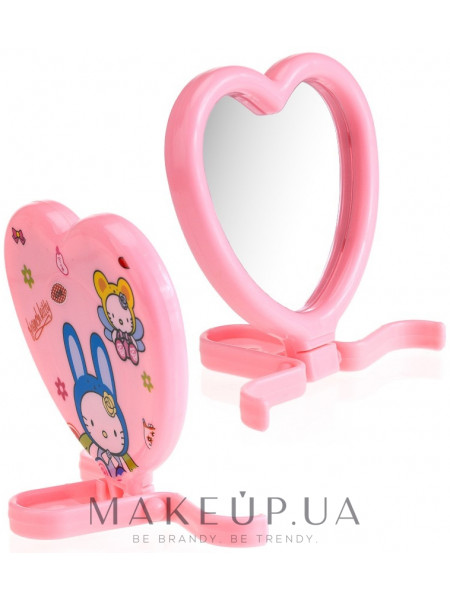 Компактное зеркало, cm-90, розовое