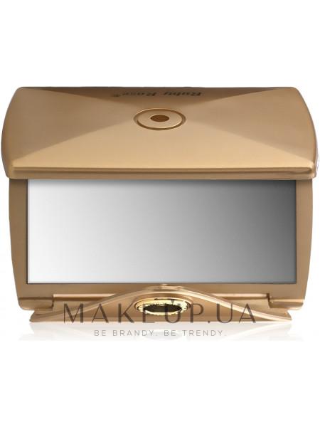 Зеркало двухстороннее конверт, золото