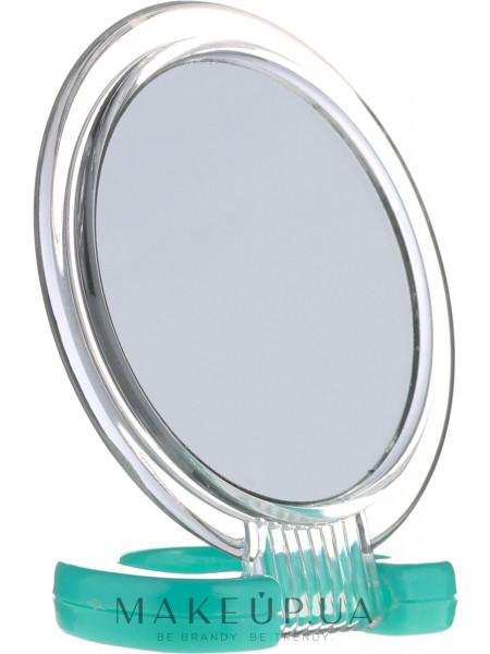 Зеркальце косметическое, 5053, зеленое
