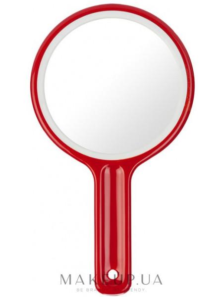 Зеркало косметическое с ручкой, 11 см, 00262, красное