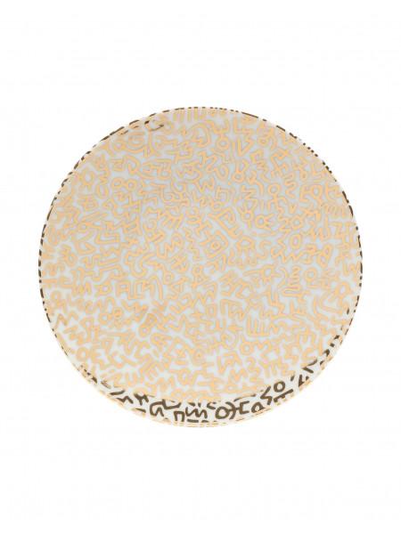 Gold pattern - limoges porcelain plate
