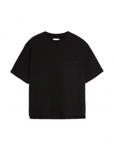 Considered black boxy pocket organic cotton t-shirt