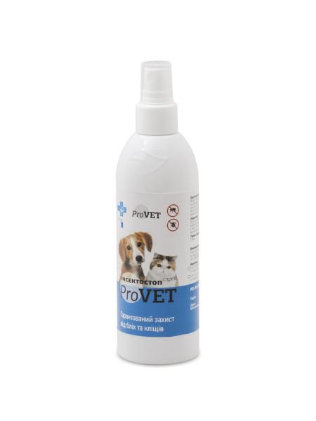 Спрей для кошек и собак ProVET «Инсектостоп» 250 мл (от внешних паразитов)