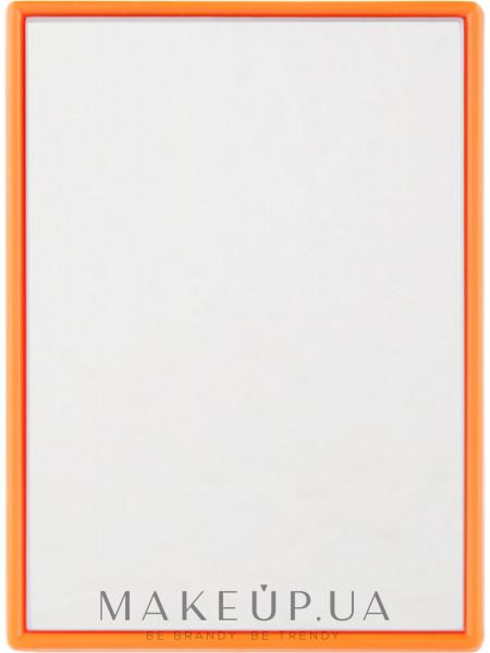 Зеркальце карманное 8.5х6см, оранжевое