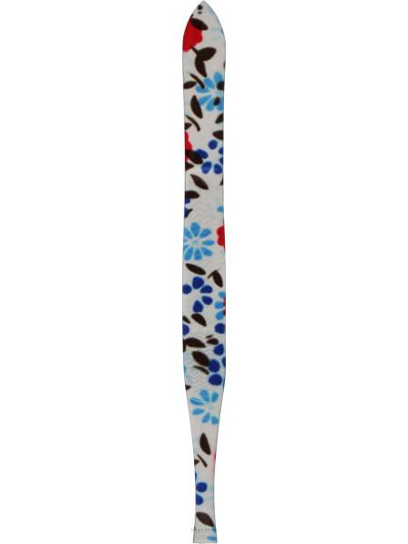 Пинцет косметический профессиональный прямой p-16, белый с синими цветами