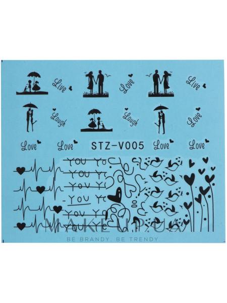Водные наклейки для ногтей, stzv