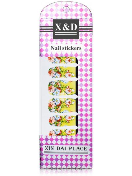 Водные наклейки для ногтей, цветы