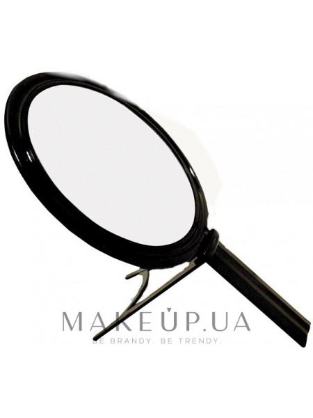 Зеркало косметическое на подставке, черное, 13.5 см, 01965