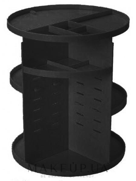 Пластиковый органайзер для косметики, вращение 360 градусов, черный