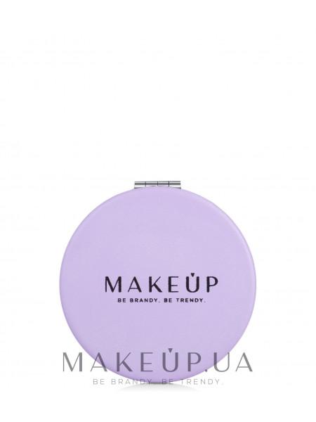 Раскладное карманное зеркало круглое, фиолетовое