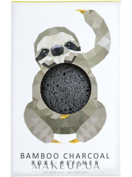 Спонж для лица с бамбуковым углем