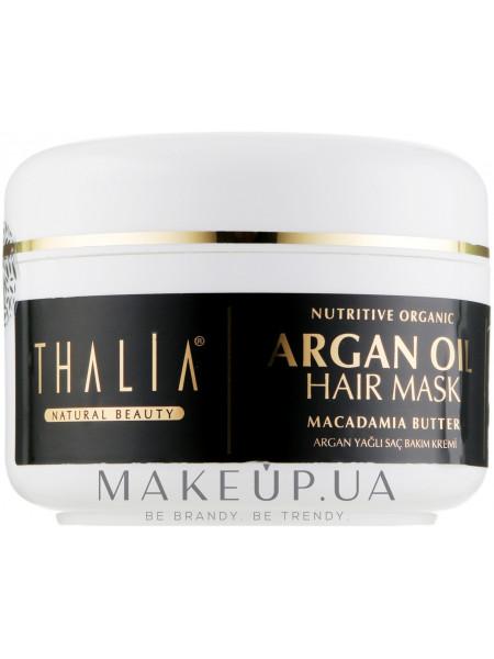 Питательная маска для волос маслом арганы