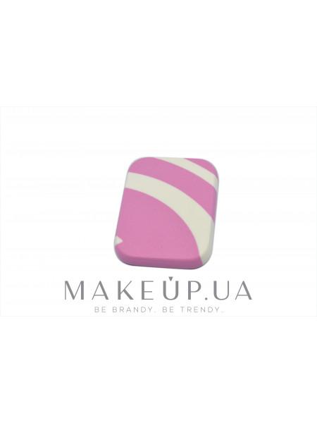Спонж косметический для макияжа, розово-белый