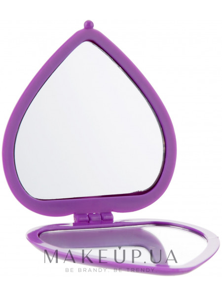 Зеркало косметическое в виде сердца, 85550, фиолетовое