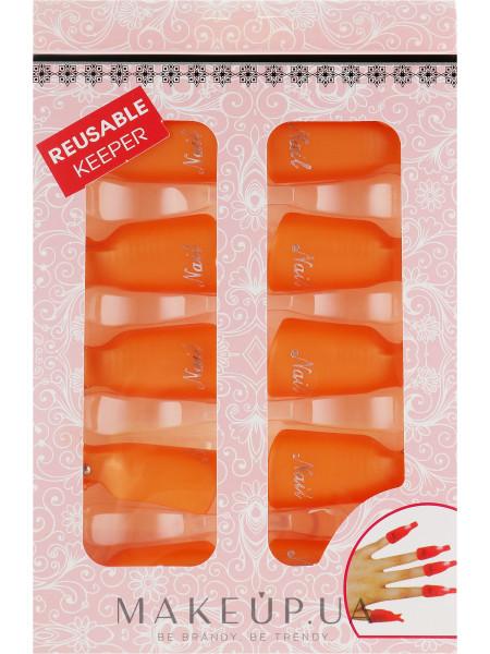 Клипсы для снятия гель-лака, оранжевые