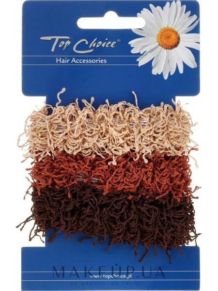 Резинки для волос 3 шт, коричневые