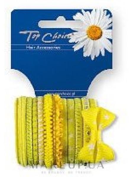 Резинки для волос 22043, 12 шт, желтые