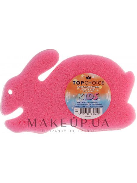 Детская губка для купания «зайчик», розовая
