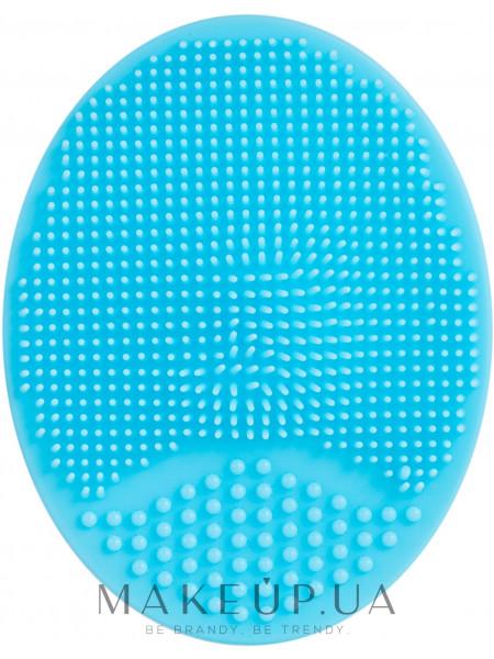 Спонж силиконовый для умывания, pf-60, голубой
