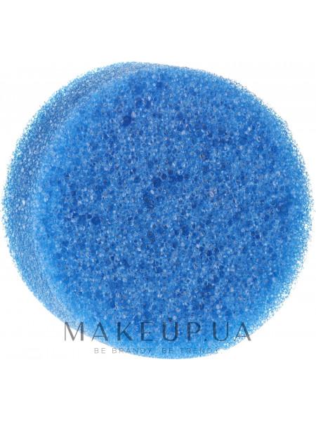 Губка для душа антицеллюлитная, круглая, синяя