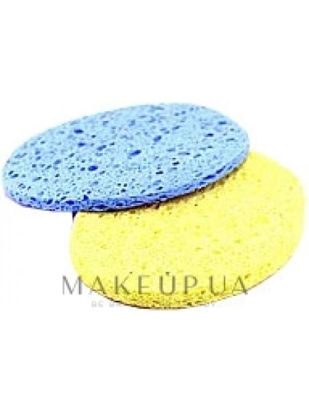 Спонж для умывания 2в1, желтый и голубой