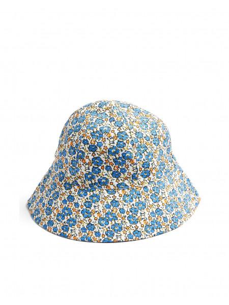 Blue floral print bucket hat