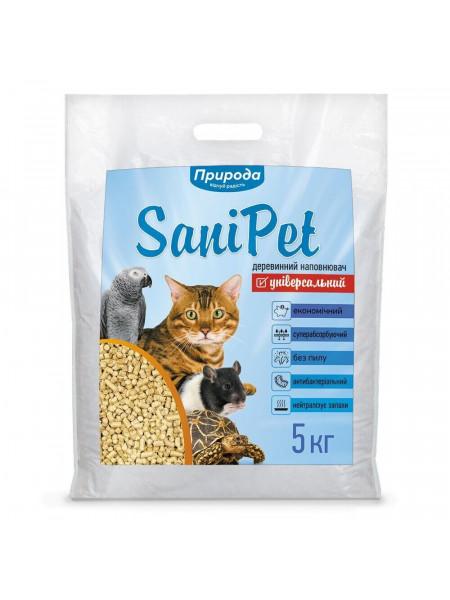 Гигиенический наполнитель Природа Sani Pet «Универсальный» 5 кг (древесный) - bds