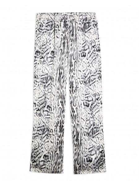 Black and white blur animal pyjama trousers