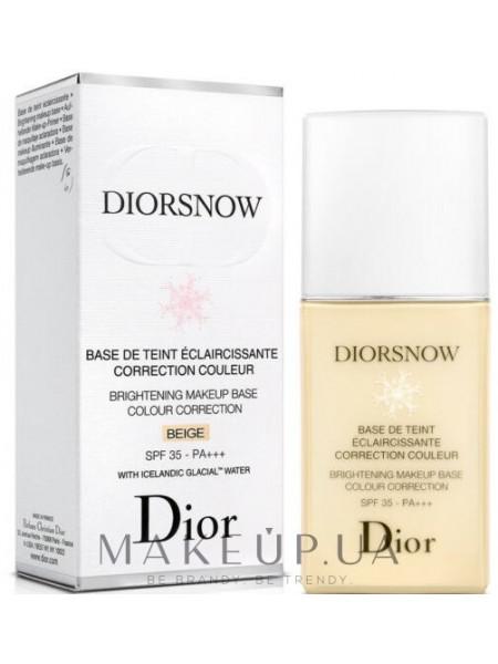 Dior brightening makeup base colour correction spf35 pa+++