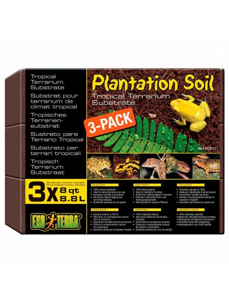 Наполнитель для террариума Exo Terra «Plantation Soil» 8,8 л, 3 шт. (кокосовый субстрат)