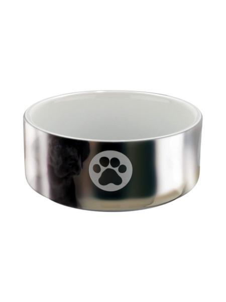 Миска керамическая Trixie 300 мл / 12 см (серебристая) - cts